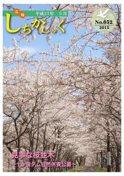 見事な桜並木 ~七ヶ宿ダム自然休養公園~